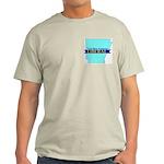 Ash Grey T-Shirt for a True Blue Arkansas LIBERAL
