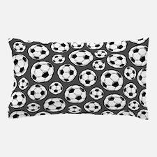 Gray Soccer Ball Pattern Pillow Case