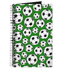 Green Soccer Ball Pattern Journal
