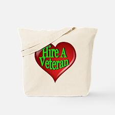 Hire A Veteran Heart Tote Bag