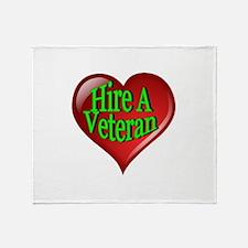 Hire A Veteran Heart Throw Blanket