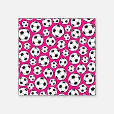 Pink Soccer Ball Pattern Sticker