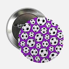 "Purple Soccer Ball Pattern 2.25"" Button (10 pack)"
