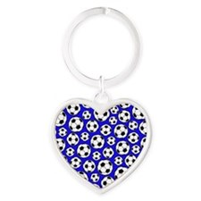 Royal Blue Soccer Ball Pattern Keychains