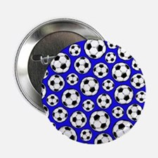 "Royal Blue Soccer Ball Pattern 2.25"" Button (10 pa"