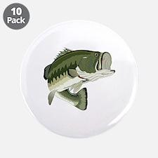 "LARGEMOUTH BASS 3.5"" Button (10 pack)"