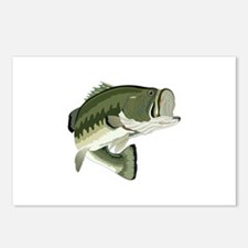LARGEMOUTH BASS Postcards (Package of 8)