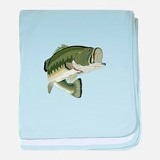 LARGEMOUTH BASS baby blanket