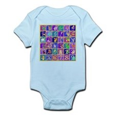 Fantasy Alphabet Bestiary Infant Bodysuit