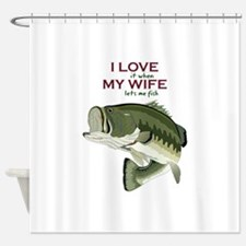 I Love My Wife Shower Curtain