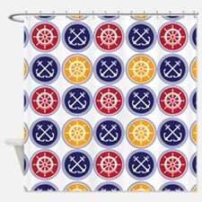 Nautical Medallions Shower Curtain