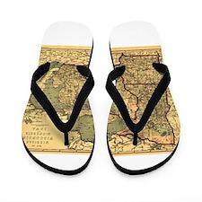 Midwest map 1873 Flip Flops