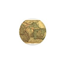 Midwest map 1873 Mini Button (10 pack)