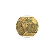 Midwest map 1873 Mini Button