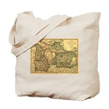 Midwest map 1873 Tote Bag