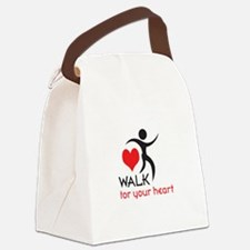 WALK FOR YOUR HEART Canvas Lunch Bag