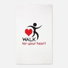 WALK FOR YOUR HEART Area Rug