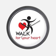 WALK FOR YOUR HEART Wall Clock