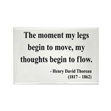 Henry David Thoreau 10 Rectangle Magnet