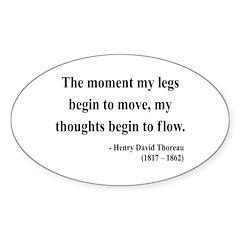 Henry David Thoreau 10 Oval Decal
