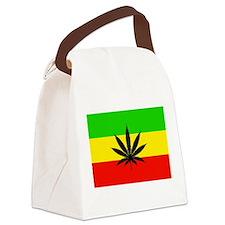 Reggae Weed flag Canvas Lunch Bag