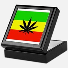 Reggae Weed flag Keepsake Box