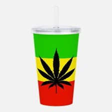 Reggae Weed flag Acrylic Double-wall Tumbler