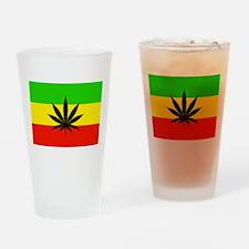 Reggae Weed flag Drinking Glass