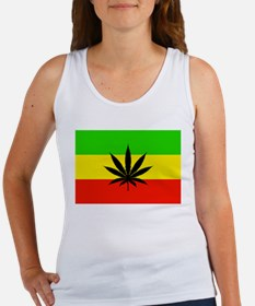 Reggae Weed flag Tank Top