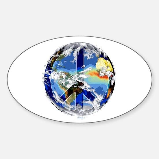 World Peace Oval Bumper Stickers