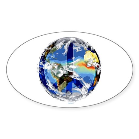 World Peace Oval Sticker