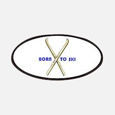 BORN TO SKI Patches