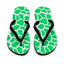 Neon Green and White Giraffe Pattern Animal Print