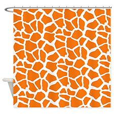 Orange and White Giraffe Pattern Animal Print Show