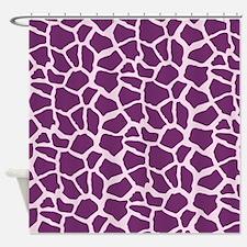 Purple and Lavender Giraffe Pattern Animal Print S