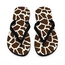 Brown and Tan Giraffe Pattern Animal Print Flip Fl