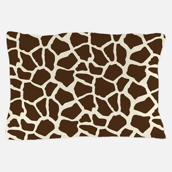 Brown and Tan Giraffe Pattern Animal Print Pillow