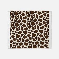 Brown and Tan Giraffe Pattern Animal Print Throw B