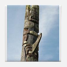Haida Totem Pole III Tile Coaster