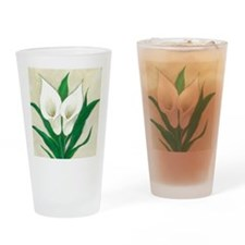 cala lilies original.jpg Drinking Glass