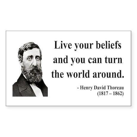 Henry David Thoreau 12 Rectangle Sticker
