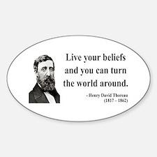 Henry David Thoreau 12 Oval Decal