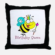 Birthday Queen Throw Pillow