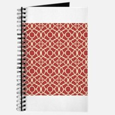 Red and Cream Vintage Damask Pattern Journal