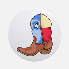 TEXAS LONESTAR BOOT Ornament (Round)