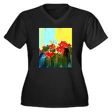 Juicy Geraniums Plus Size T-Shirt
