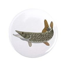 """NORTHERN PIKE 3.5"""" Button"""