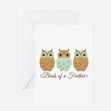 Birds of a Feather Greeting Cards