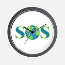 Earth SOS Wall Clock