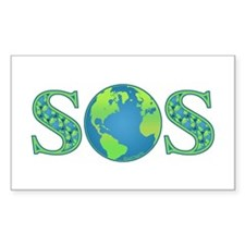 Earth SOS Rectangle Decal